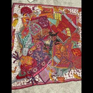 Authentic Hermès shawl scarf 140 silk cashmere